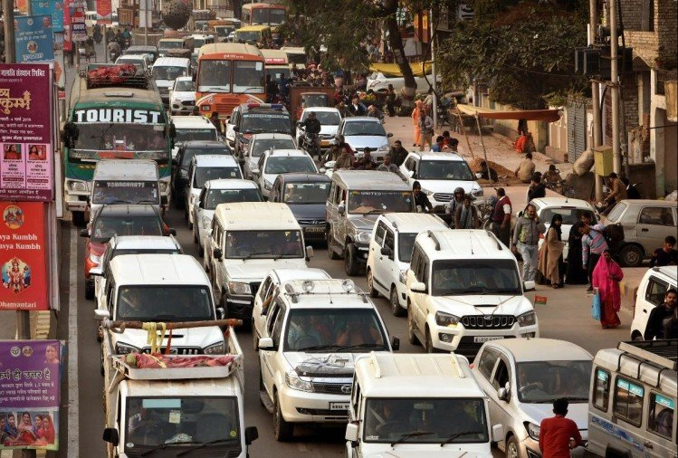 traffic in prayagraj