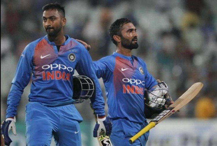 NZvIND: Last two overs excitement of Hamilton T20, Krunal pandya and Dinesh karthik