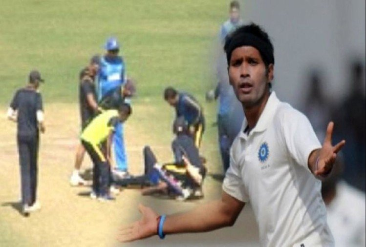 VIDEO: Ashok Dinda hit on head while attempting caught and bowled