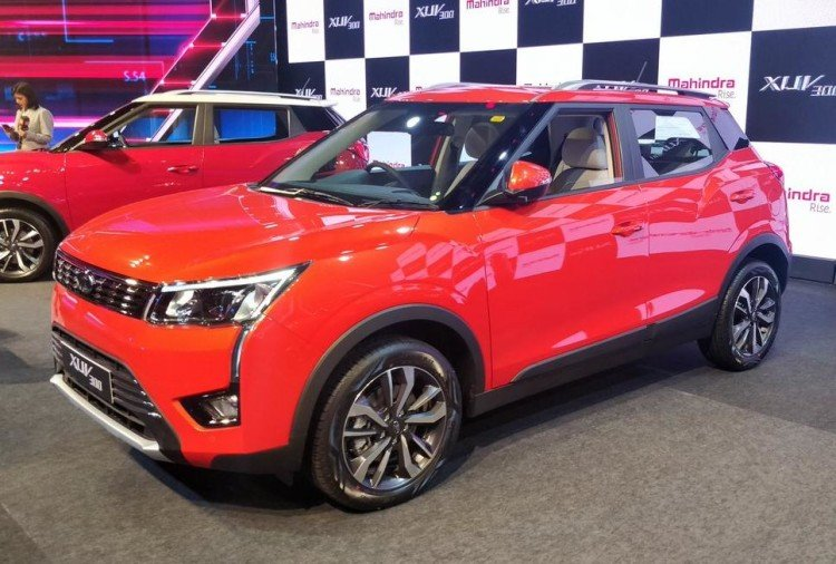 Mahindra XUV300 red color
