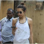 Malaika Arora outside gym