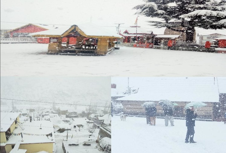 fresh snowfall recorded in the high hill of himachal pradesh