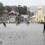 Snowfall in March after two years in Shimla
