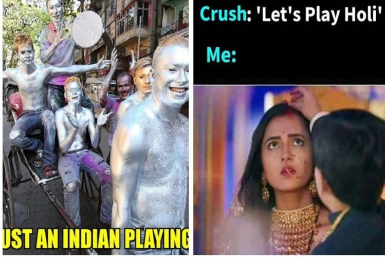 Happy holi 2019 Celebrations twitter is celebrating with jokes and hilarious memes viral