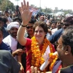 Priyanka gandhi road show in bhadohi for loksabha election 2019