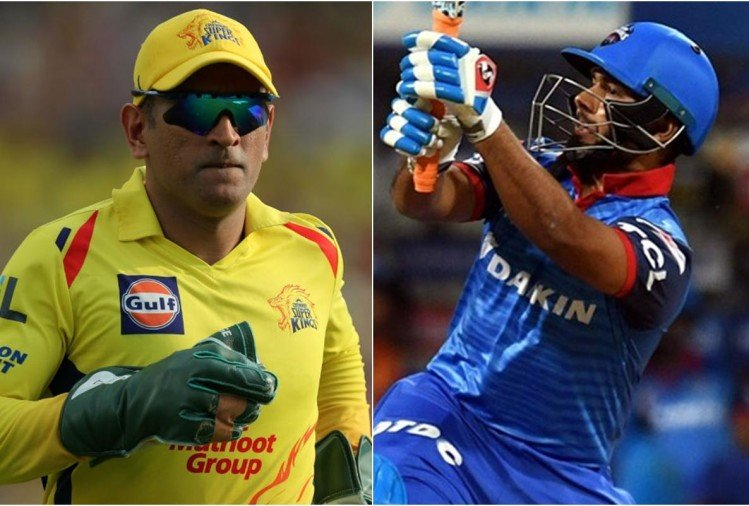 Image result for rishabh pant vs ms dhoni ipl 2019