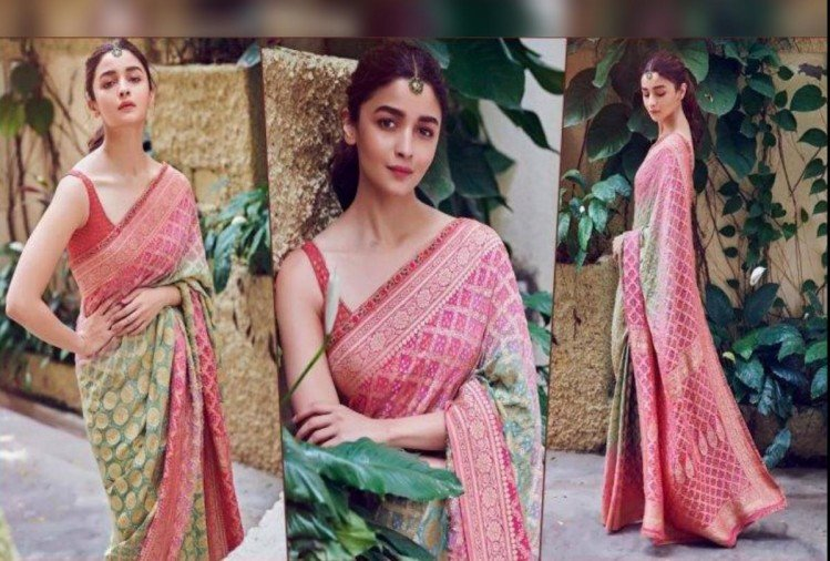 Alia Bhatt looks stunning in her latest pictures in saree
