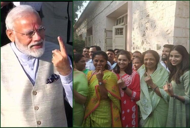 मोदी अहमदाबाद में मतदान संपन्न