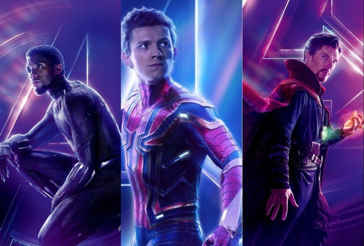 Black Panther,Spider Man, Doctor Strange
