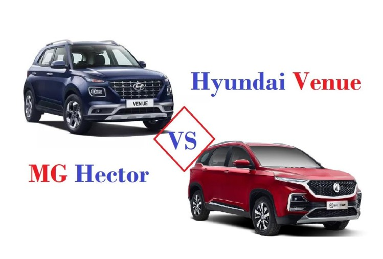 MG Hector Vs Hyundai Venue