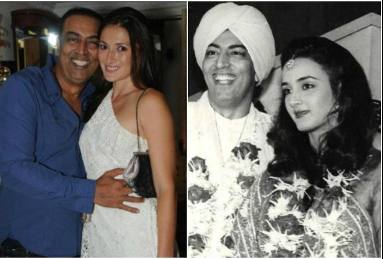 Vindu Dara Singh with wife