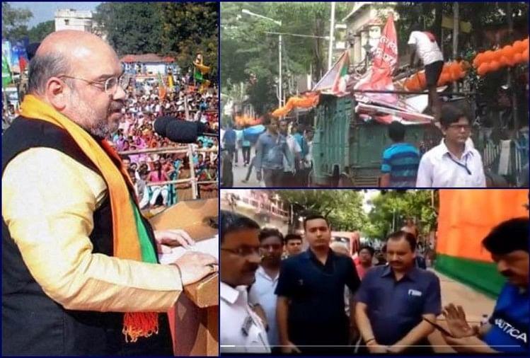 Several injured after clashes mar Amit Shah's Kolkata rally