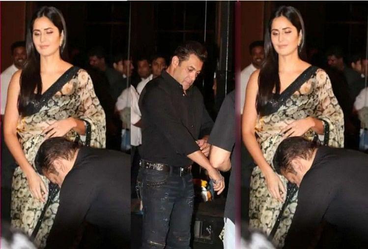 Image result for Salman Khan and  Katrina Kaif saree