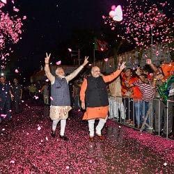 भाजपा अपने दम पर 300 पार, कई रिकॉर्ड के साथ फिर मोदी सरकार