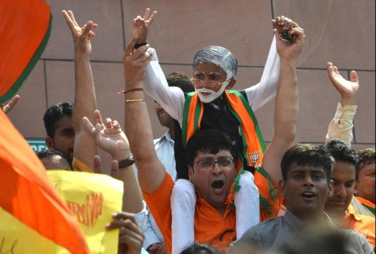 lok sabha election result 2019 bjp gets more than 50 percent votes in delhi clean sweep