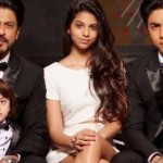 Shah Rukh Khan with children Suhana Khan, Aryan Khan and AbRam