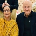 Anupam Kher with mother