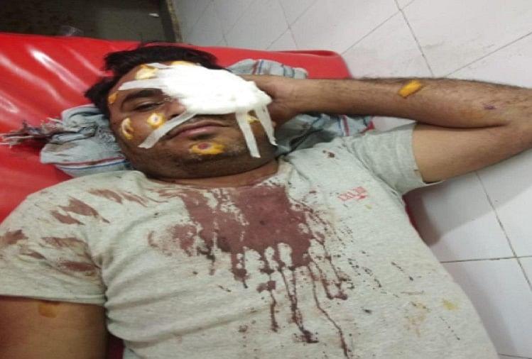अस्पताल में भर्ती घायल युवक