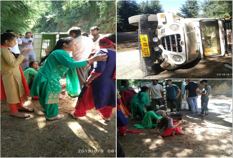 Dozen devotees injured in Jeep accident at Mandi HP