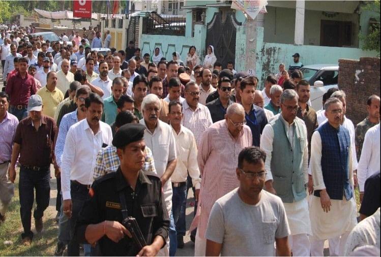 भाजपा नेता उमेश अग्रवाल की अंतिम विदाई