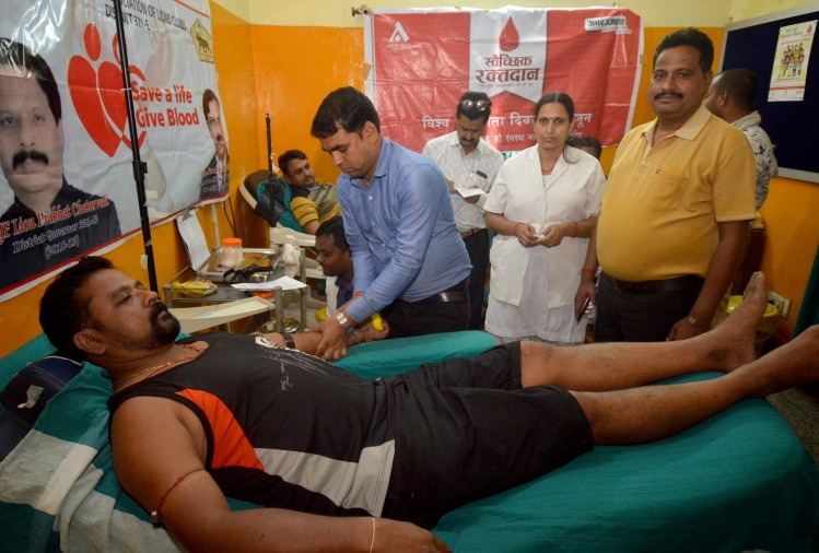 blood donation camp prayagraj