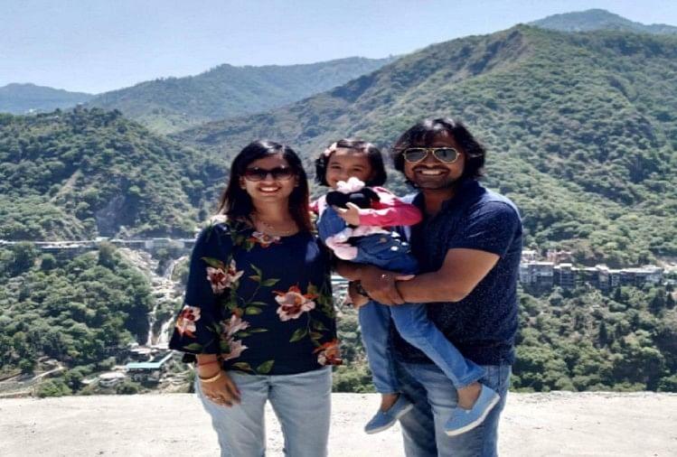 केतन शर्मा और पत्नी व बिटिया