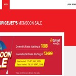 Spicejet monsoon sale book tickets at only rupees 888