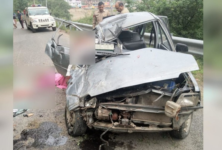 pics of deadly Car accident in kotkhai shimla and dead bodies found in poor condition