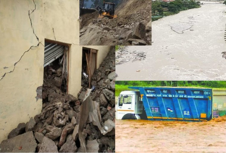 Extreme Rainfall in uttarakhand two killed river water level high photos