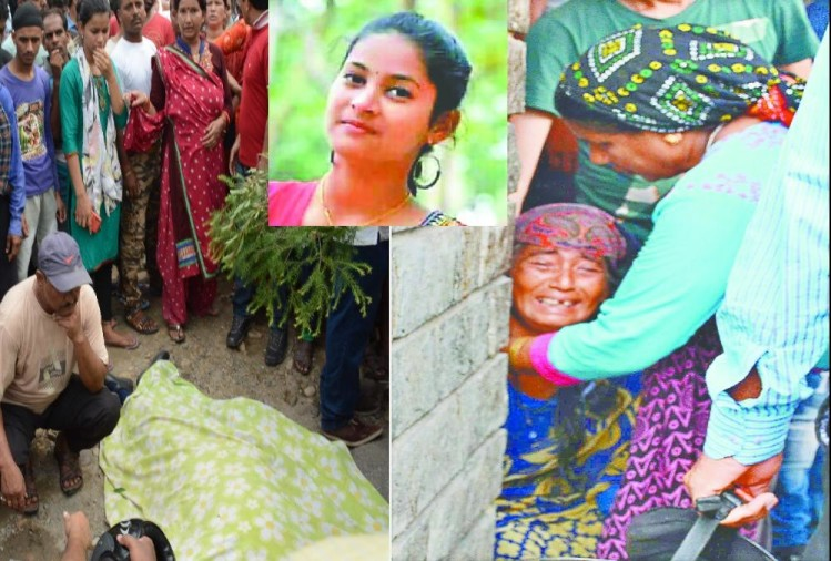 Dehradun Accident News: Girl student Horiable death after Dumper Crushed her Emotional photos