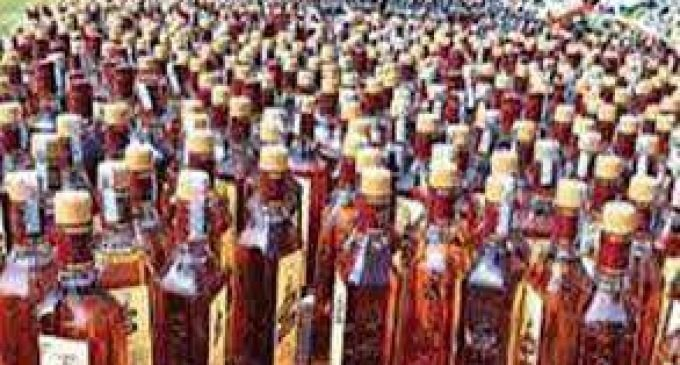 Police arrest one man with 60 laks illegal wine.