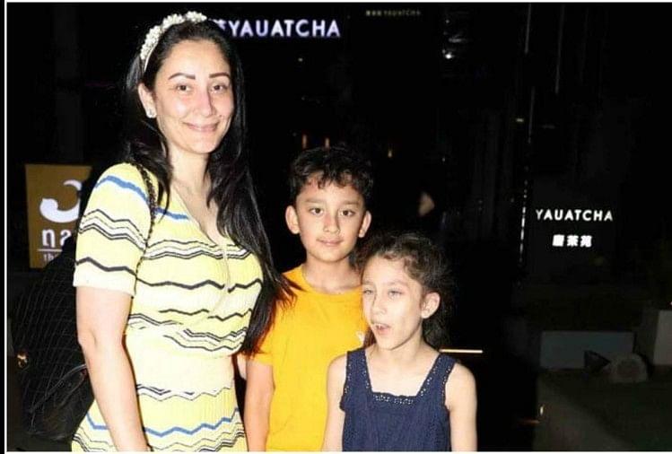 Sanjay Dutt Wife Manyata Dutt Spotted Without Make Up Along