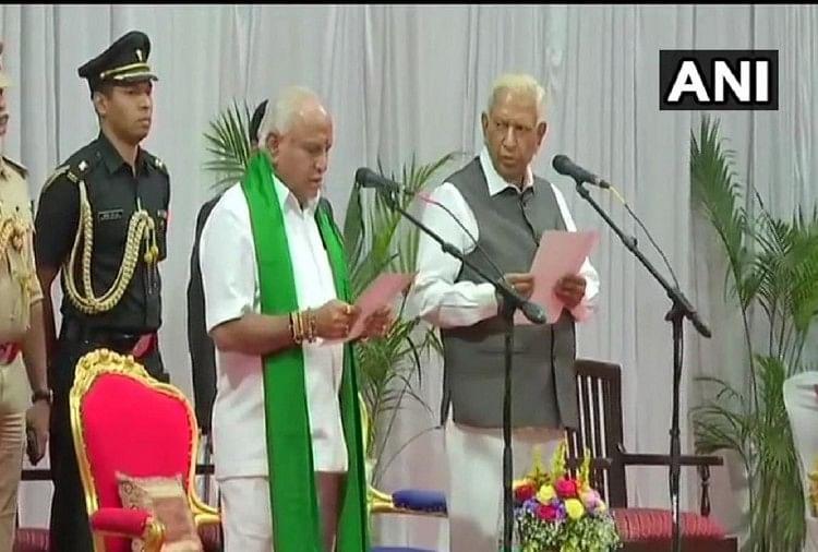 Yediyurappa, not Yeddyurappa, sworn-in as Karnataka chief minister for fourth time