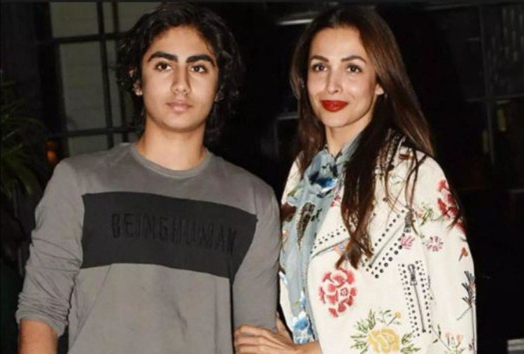Malaika with son Arhaan