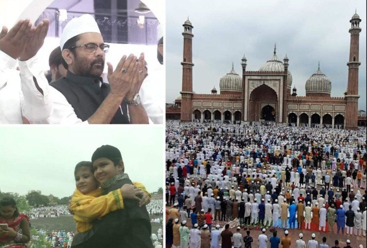 bakrid 2019 from mukhtar abbas naqvi to common man all offers namaz of eid al adha photos