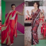 taapsee pannu stylish experiment with saree during mission mangal promotions