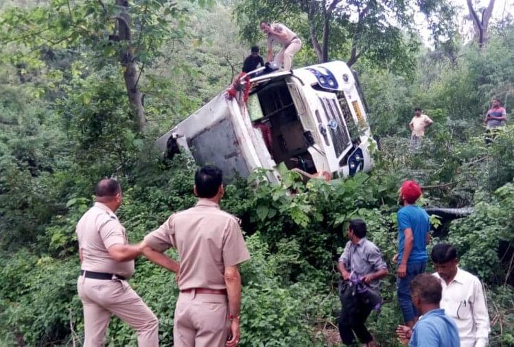 Punjab Pilgrims Bus Accident in baba vadbhag singh madi una himachal pradesh