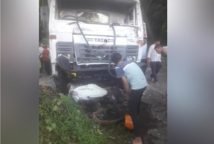 Scooty Rider Mother and Son Dies due To Truck Collision in Kangra Himachal Pradesh