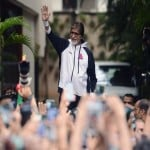 Amitabh Bachchan outside Jalsa