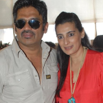 Suniel Shetty and Mana Shetty