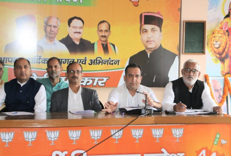 himachal BJP's organizational elections programme issued by satpal satti