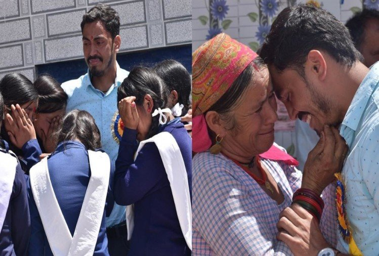 Teacher Emotional Vidai students and villagers crying After transfer from uttarkashi