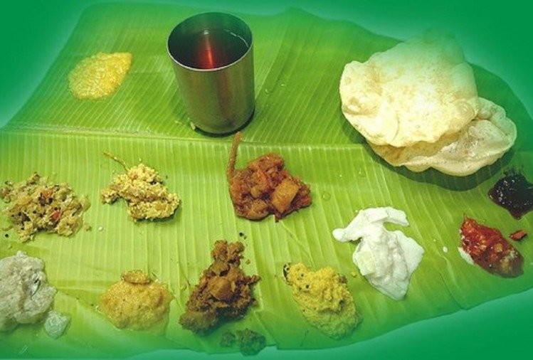 sadya a traditional thali of kerala