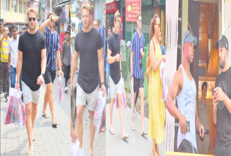 Players of South Africa arrived McLeodganj to do haircut and shopping