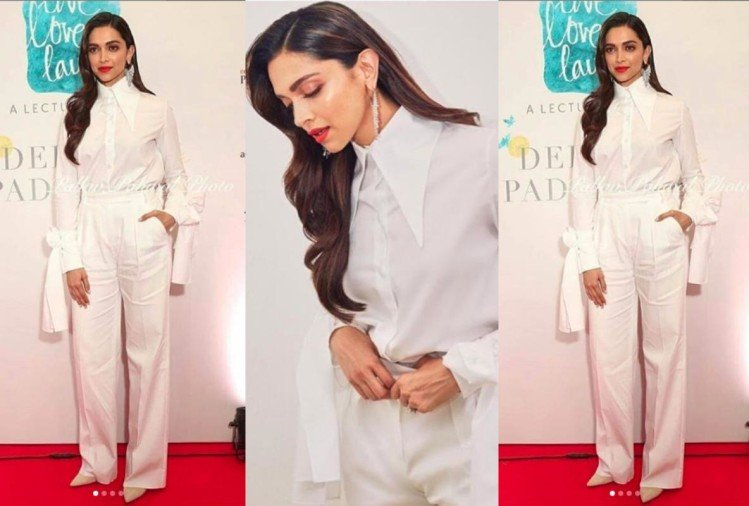 deepika padukone looks stunning in white look at live love laugh event
