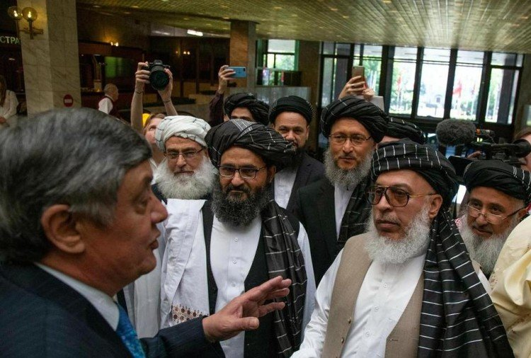 taliban leaders and kabulov in Moscow