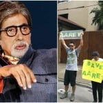 Protest Outside Amitabh Bachchan house