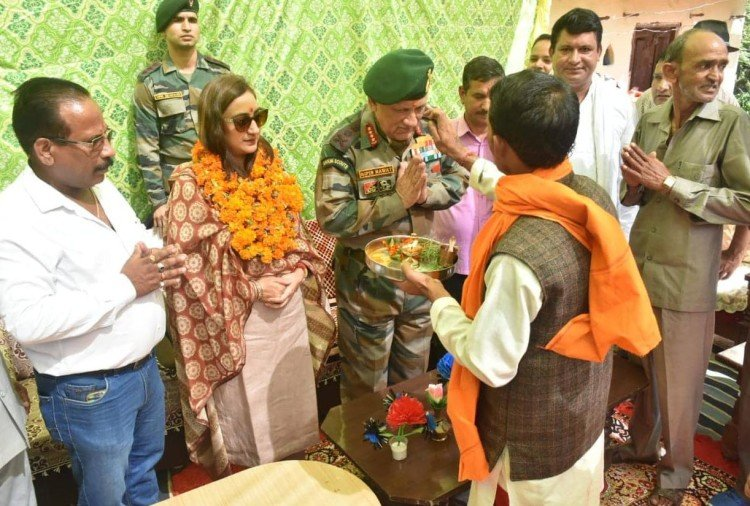 Army Chief General bipin Rawat reach his maternal home after many year