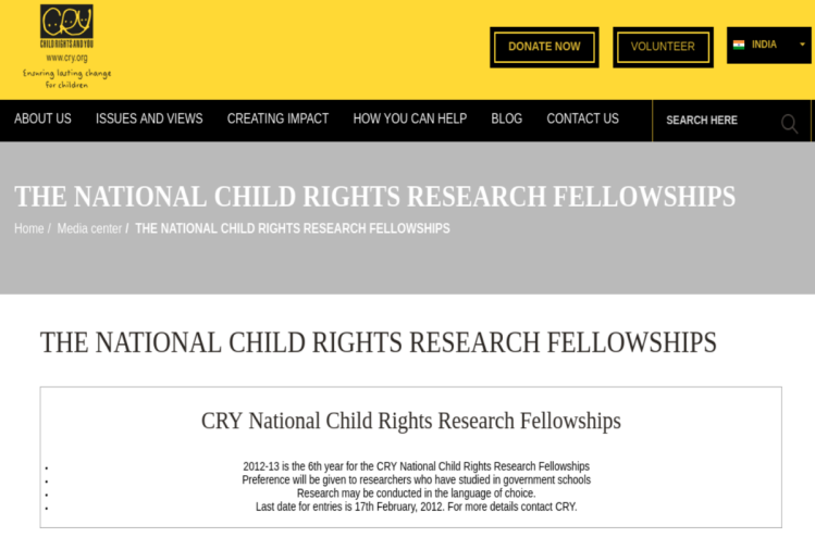 child rights research fellowship