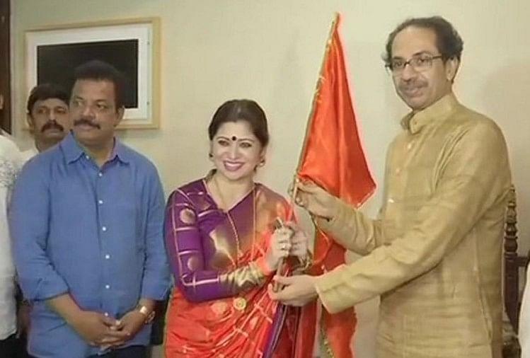 शिवसेना में शामिल हुईं मराठी अभिनेत्री दीपाली सैय्यद